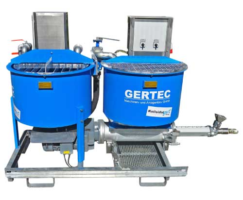 Gertec IS-35-E Colloidal Mixer isolated on white background