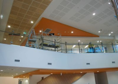inside the new hospital during building