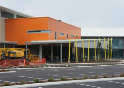 New hospital building from the main car park